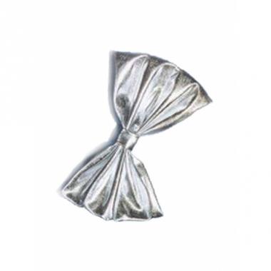 Zilveren vlinderstrikjes 18 cm
