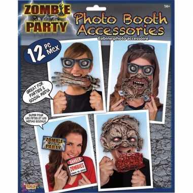 Zombie foto prop set 12-delig