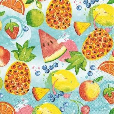Zomers fruit thema servetten 20 stuks