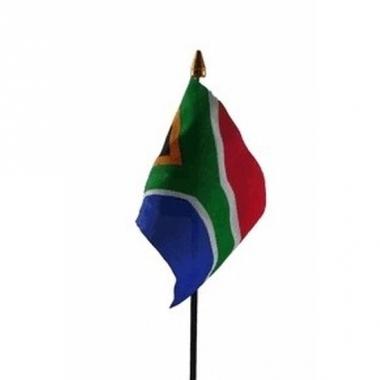 Zuid afrikaanse landenvlag op stokje