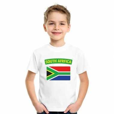 Zuid afrikaanse vlag kinder shirt wit