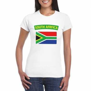 Zuid afrikaanse vlag shirt wit dames