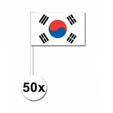Zuid korea zwaai vlaggetjes 50 stuks