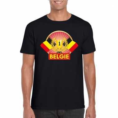 Zwart belgie kampioen shirt heren