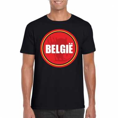 Zwart belgie shirt met duivel in cirkel shirt heren