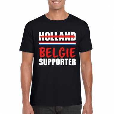Zwart belgie shirt voor teleurgestelde holland supporters heren