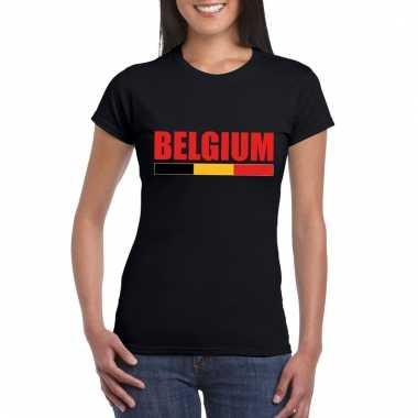 Zwart belgium supporter shirt dames