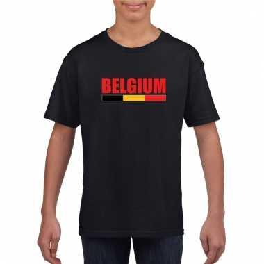 Zwart belgium supporter shirt kinderen