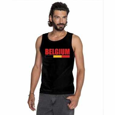 Zwart belgium supporter singlet shirt/ tanktop heren