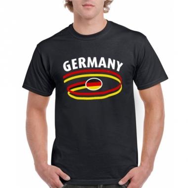 Zwart body-fit heren shirt germany