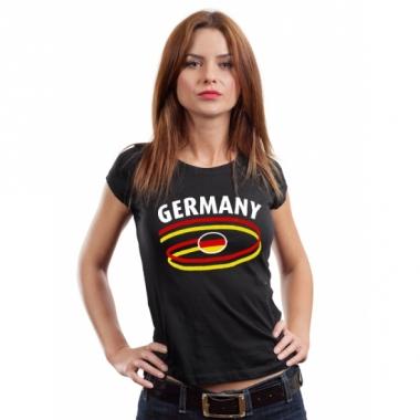 Zwart body-fit shirt germany voor dames