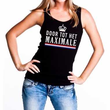 Zwart door tot het maximale tanktop / mouwloos shirt voor dames
