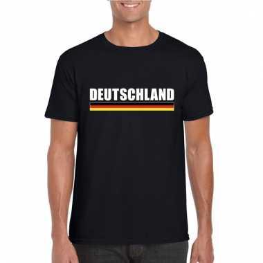 Zwart duitsland supporter t-shirt voor heren