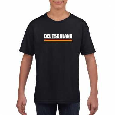 Zwart duitsland supporter t-shirt voor kinderen