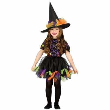 Zwart heksen kostuum voor meisjes