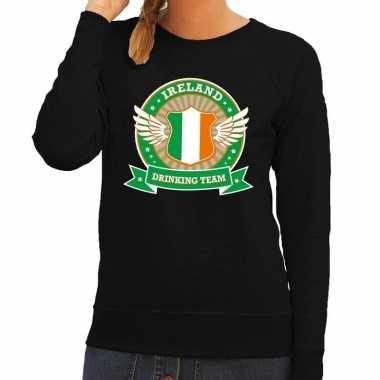 Zwart ireland drinking team sweater dames