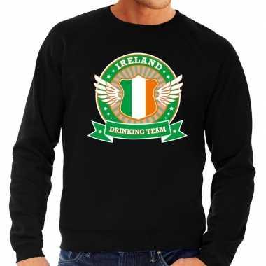 Zwart ireland drinking team sweater heren