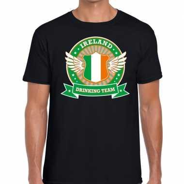 Zwart ireland drinking team t-shirt heren