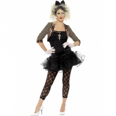 Zwart jaren 80 dames kostuum