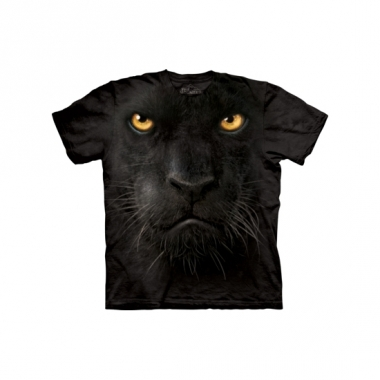 Zwart luipaard shirt the mountain volwassenen