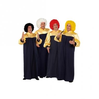Zwart met gouden gospel toga