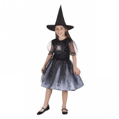 Zwart met grijs heksenjurkje voor meiden