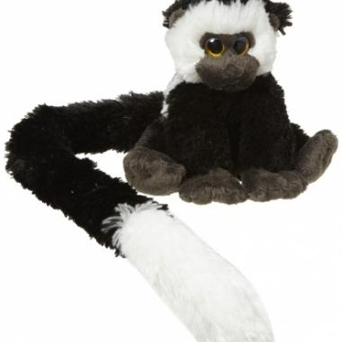 Zwart met witte apen knuffel
