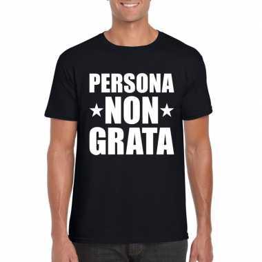 Zwart persona non grata shirt voor heren