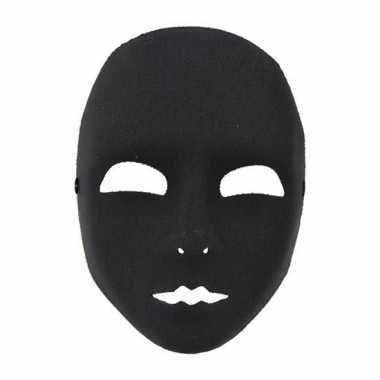 Zwart plastic masker