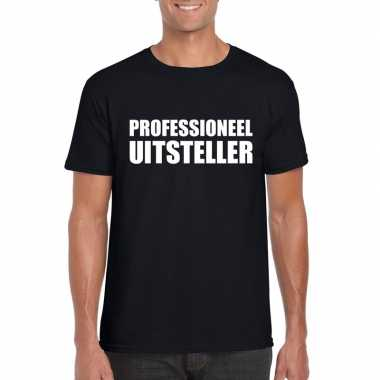 Zwart professioneel uitsteller shirt voor heren