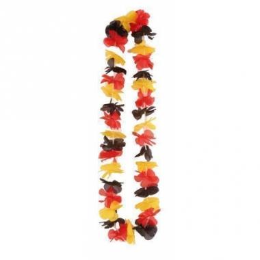 Zwart rood gele hawaii slingers