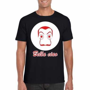 Zwart salvador dali t-shirt voor heren
