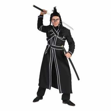 Zwart samoerai verkleed kostuum voor heren