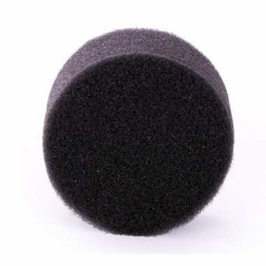 Zwart schmink / make up sponsje rond