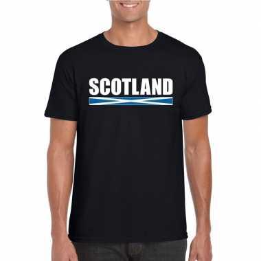 Zwart schotland supporter t-shirt voor heren