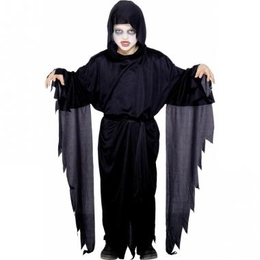 Zwart scream mantel gewaad voor kids