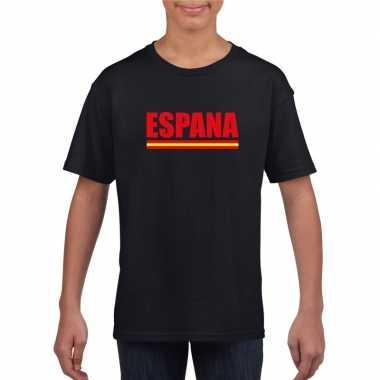 Zwart spanje supporter shirt kinderen