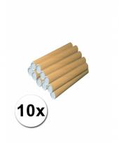10 handwerk kokers van karton 31x4 cm