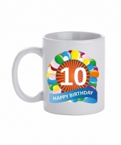 10 jaar cadeau beker 300 ml ballon thema