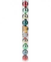 10 kerstballen glanzend bonte kleuren