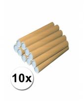 10 knutsel kokers van bruin karton 50 cm