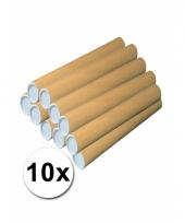 10 knutsel kokers van bruin karton 64 cm
