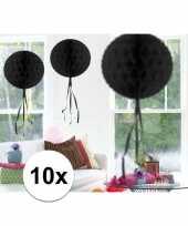10 stuks zwarte versiering bol 30 cm