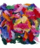 100 gram gekleurde decoratie veren