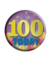 100 jaar today button