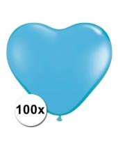 100 lichtblauwe harten ballonnen 15 cm