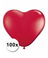 100 rode harten ballonnen 15 cm