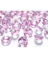 100x diamanten lichtroze 2 cm