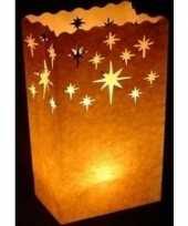 10x candle bag set kristalster 26 cm