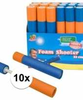 10x foam supersoaker waterpistolen 33 cm